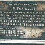 Tin Pan Alley Plaque
